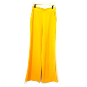 WINDSOR Woman's Mustard Hi-Rise Flare Pants